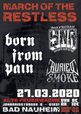 born from pain buried in smoke ynr live tour bad nauheim