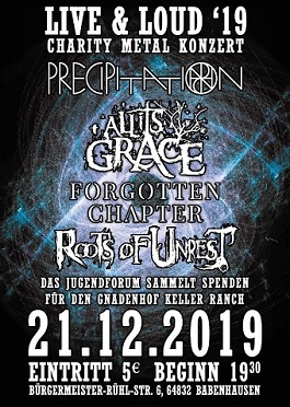 charity metalkonzert live loud precipitation roots of unrest