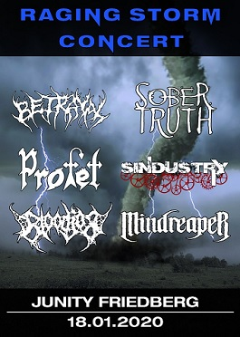 mindreaper sindustry sober truth profet betrayal bloodjob raging storm friedberg